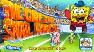Play Spongebob Squarepants The Great Snail Race
