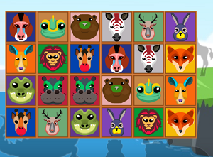 Play Animals Connect 4