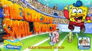 Play Spongebob Squarepants The Great Snail Race