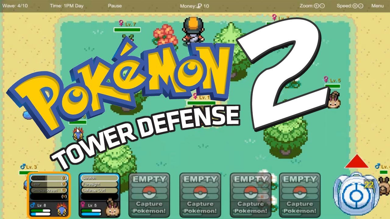 Play Pokemon Tower Defense 2