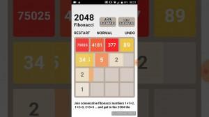 Play 2048: Fibonacci