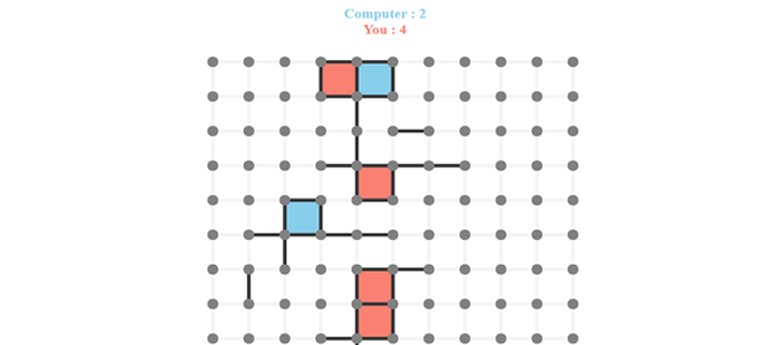 Play Dots and Boxes